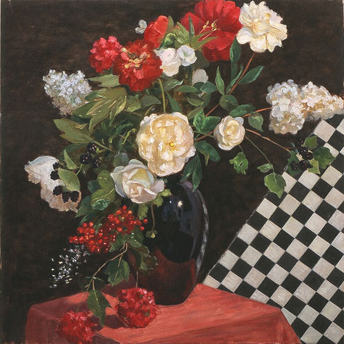 Composition with Checkerboard